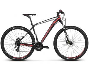 Rower kross Level 1.0 czarny czerwony biały