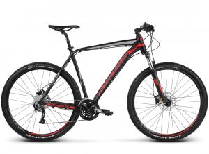 Rower Kross Level 3 czarno-czerwony