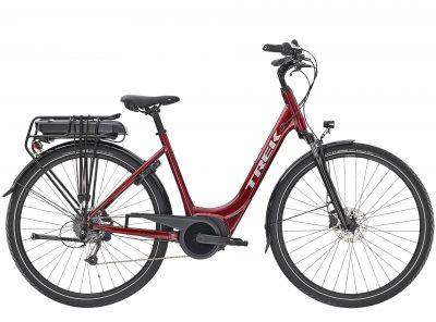 Rower Trek Verve+ 1 z niskim przekrokiem czerwony