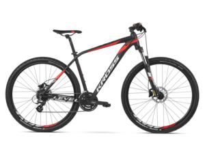 Rower Kross Level 1.0 czarno-czerwony